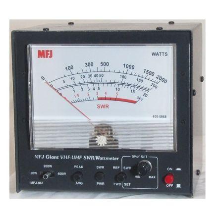MFJ-867 - VHF/UHF Giant SWR/Wattmeter