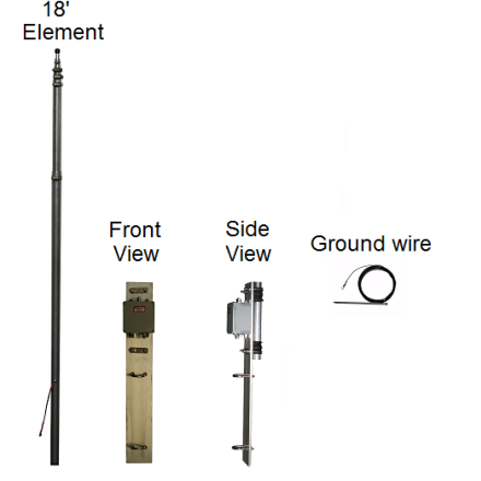 DISCONTINUED Alpha Antenna 10-40M ProMaster Jr Base Antenna