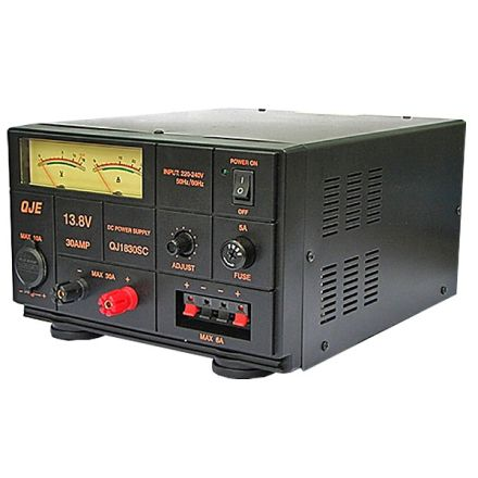 DISCONTINUED QJE QJ1830SC (30AMP) LINEAR POWER SUPPLY