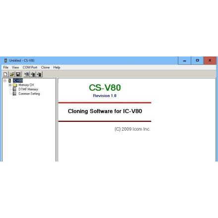 Icom CS-V80 V1.1 Cloning Software