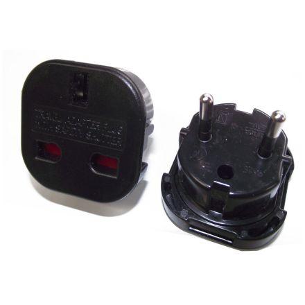 European Travel Plug x 5 Pack (Black)