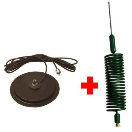 CB Aerial Kit - Green Tornado Mini Stinger & Turbo Mag Mount (Complete Offer)