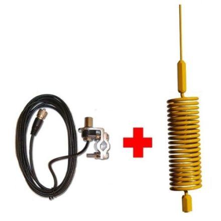 CB Aerial Kit - Yellow Tornado Mini Stinger & Rail Mount (Complete Offer)