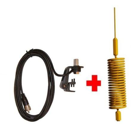 CB Aerial Kit - Yellow Tornado Mini Stinger & Gutter Mount (Complete Offer)