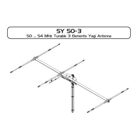 Sirio SY50-3 - New High Gain 6m (50MHz) 3 Element Yagi Beam Antenna