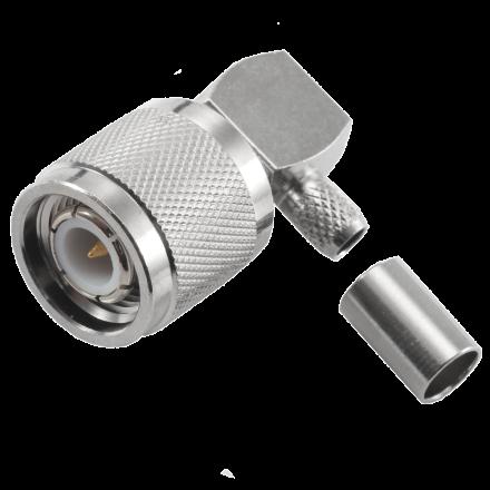 Right Angle TNC Crimp plug for RG58
