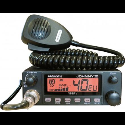 President Johnny-3 ASC 12-24V Mobile CB Transceiver